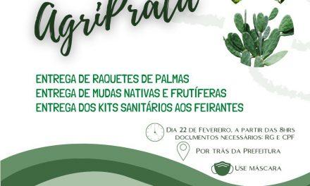 PREFEITURA DE PRATA ENTREGARÁ RAQUETES DE PALMAS, MUDAS NATIVAS E KITS SANITÁRIOS DE PROTEÇÃO.