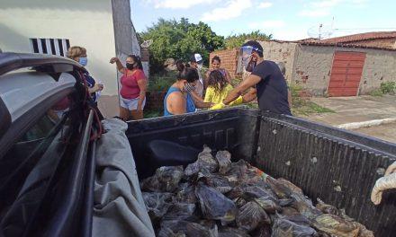 Prefeitura de Prata distribuiu peixe à população nesta terça- feira